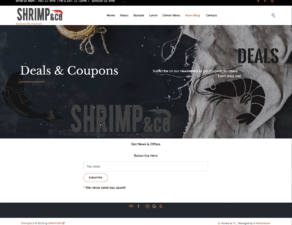 Subscribe to Shrimp & Co Email List